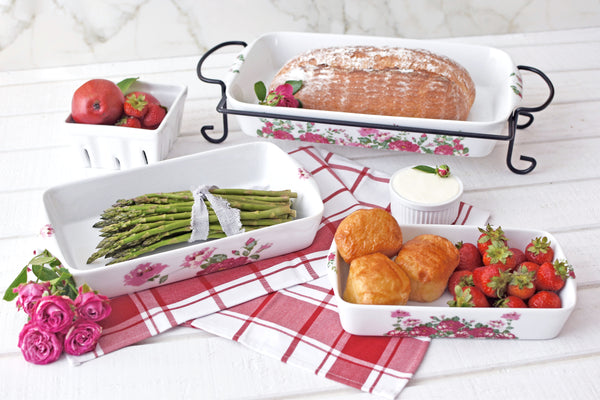4 Piece Bake Set Red