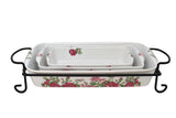 Darbie's Rose 4 Piece Bake Set Red