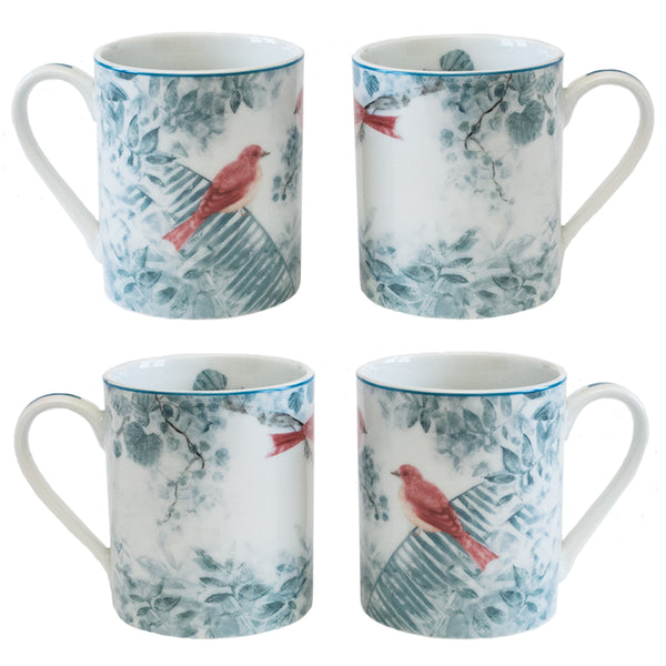 4 Piece Mug Set Red
