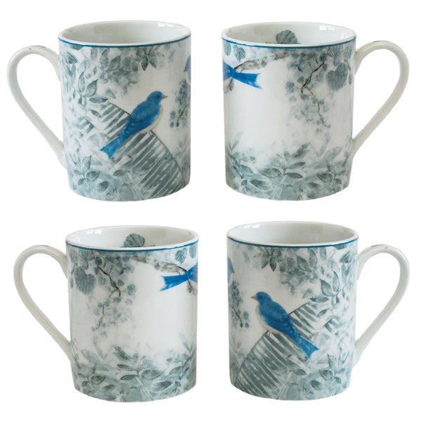 4 Piece Mug Set Blue