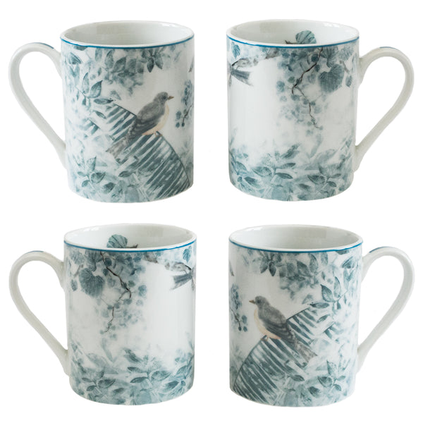 4 Piece Mug Set Gray