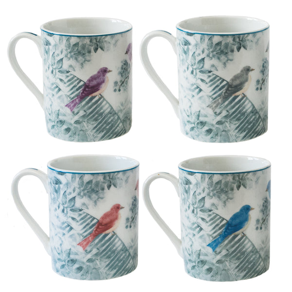 4 Piece Mug Set Multicolor