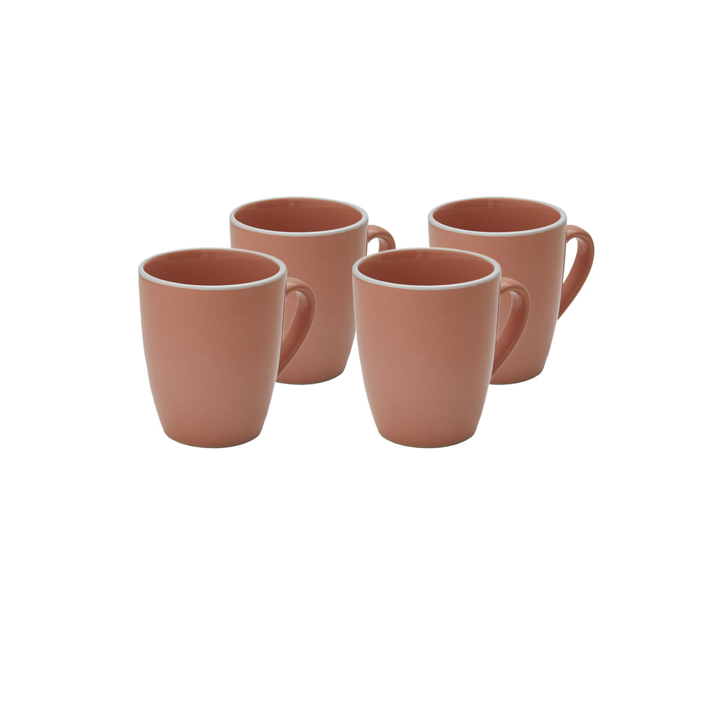 Potter's Wheel Rose Mug Set of 4