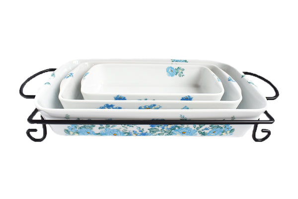 4 Piece Bake Set Periwinkle