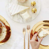 Monaco Gold 5 Piece Dinnerware Set