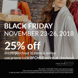 This Week's Picks - BB Dakota and Black Friday Savings!