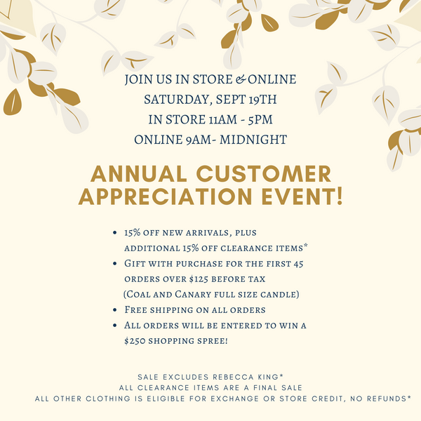 Annual Customer Appreciation Event!