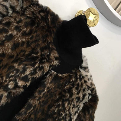 Sienna Leopard Faux Fur Coat - maccs the label