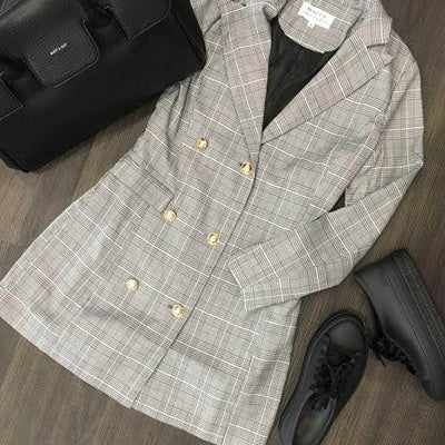Cher Plaid Blazer - maccs the label