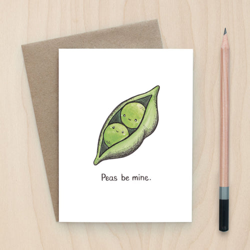 Peas Be Mine Card