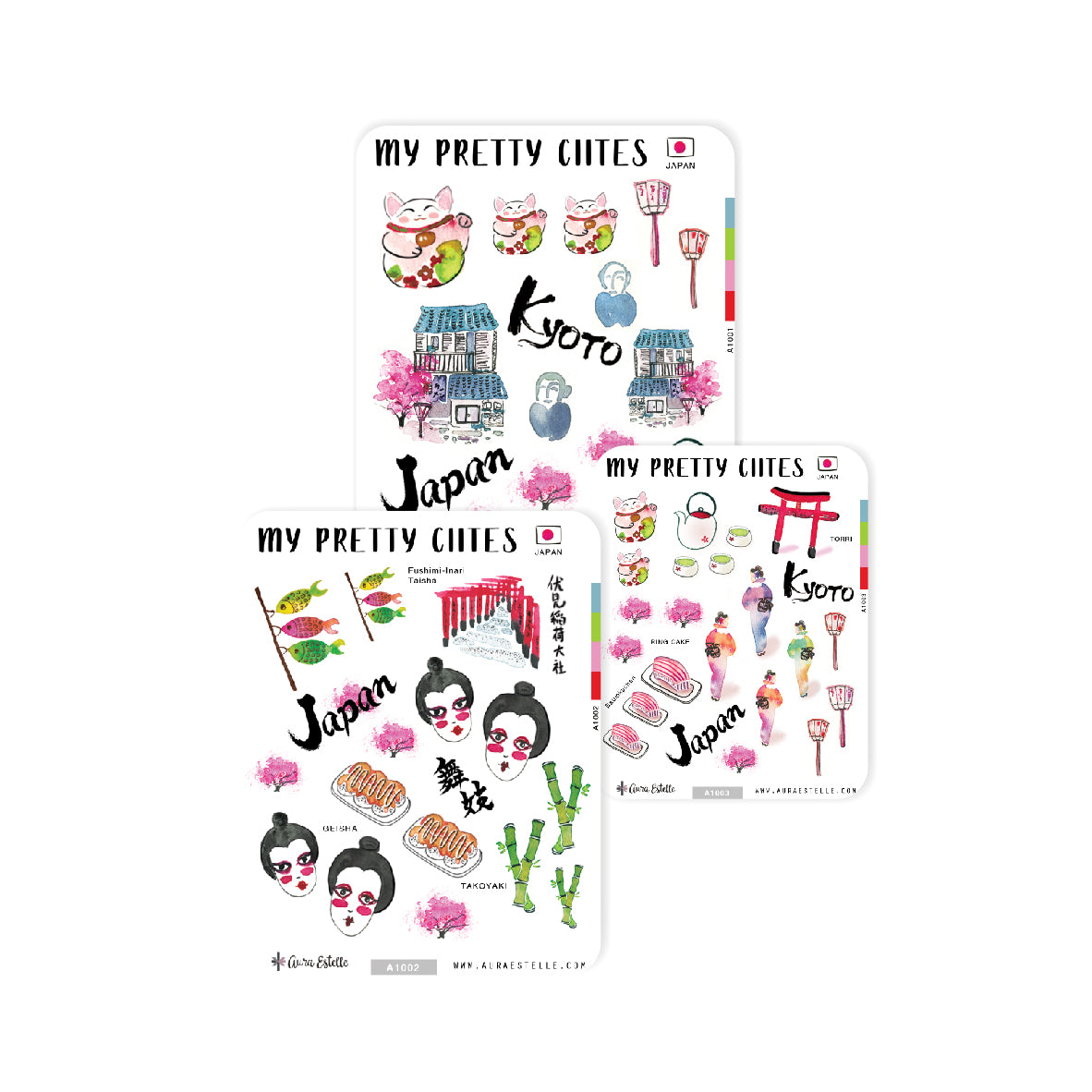 MY PRETTY CITIES – JAPAN STICKER SET