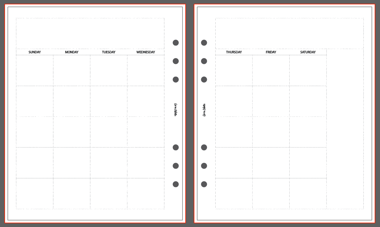 PRE-ORDER MONTHLY INSERTS | CLOUD | A5 Wide | 1010 CLUSTERED STYLE