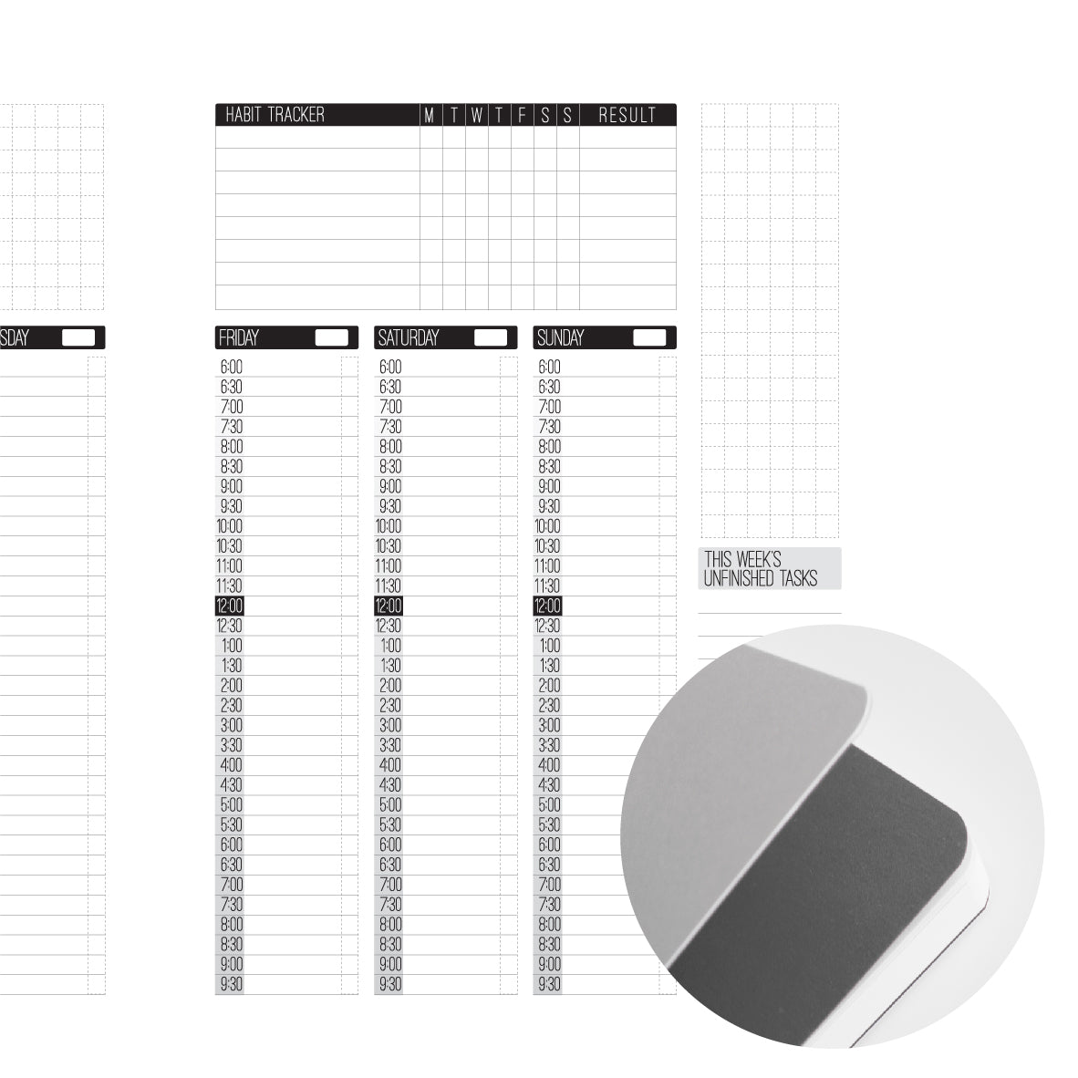 160 PAGE NOTEBOOK MAIN INSERT | A5 | LARGE