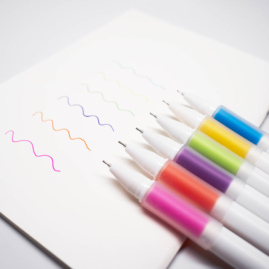 M&G SOFT-GRIP GEL PEN SET | 6 COLORS | 0.5MM