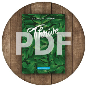 Thrive Discovery Journal: Beginner PDF (2018)