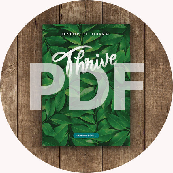 Thrive Discovery Journal: Senior PDF (2018)