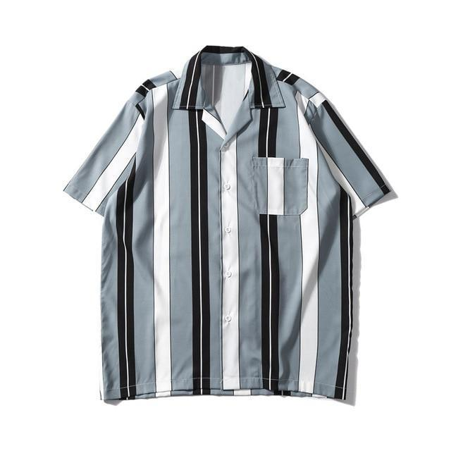 EXTAZ Shirt Gris / XS STRIPED - Shirt