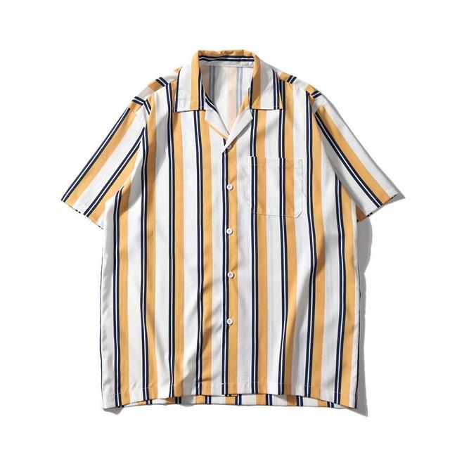 EXTAZ Shirt Jaune / XS STRIPED - Shirt