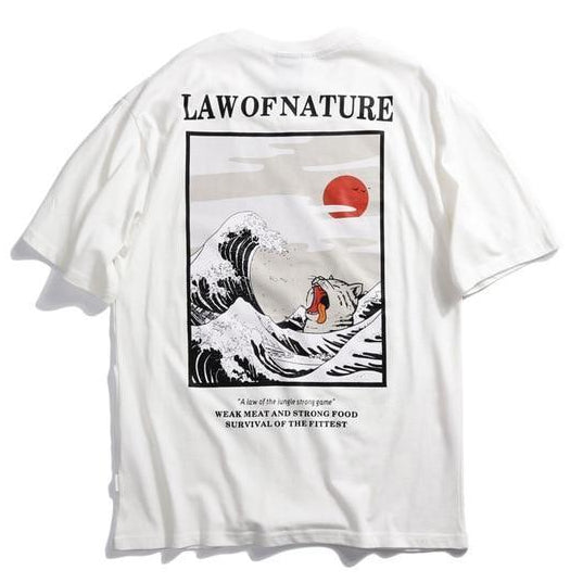 EXTAZ Tees Blanc / S LAW OF NATURE - Tees