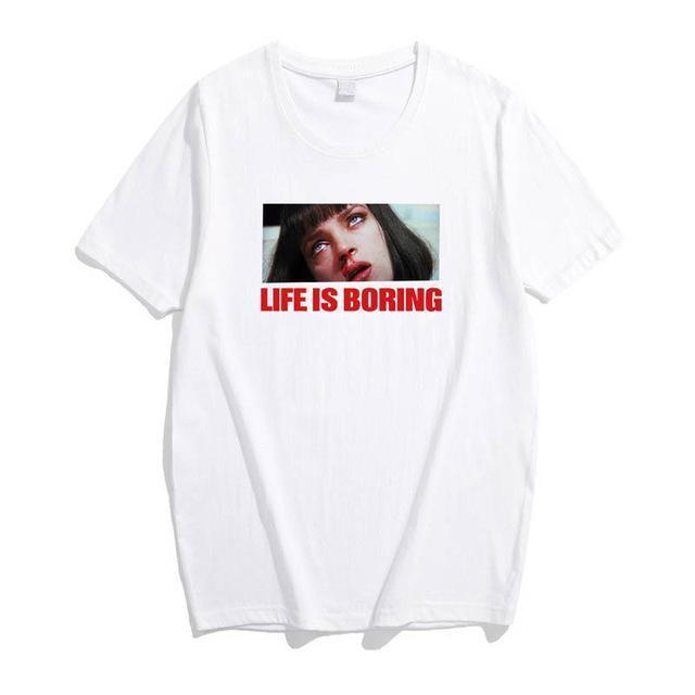 EXTAZ Tees Blanc / S LIFE IS BORING - Tees