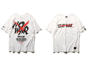 EXTAZ Tees Blanc / S NO WAR - Tees