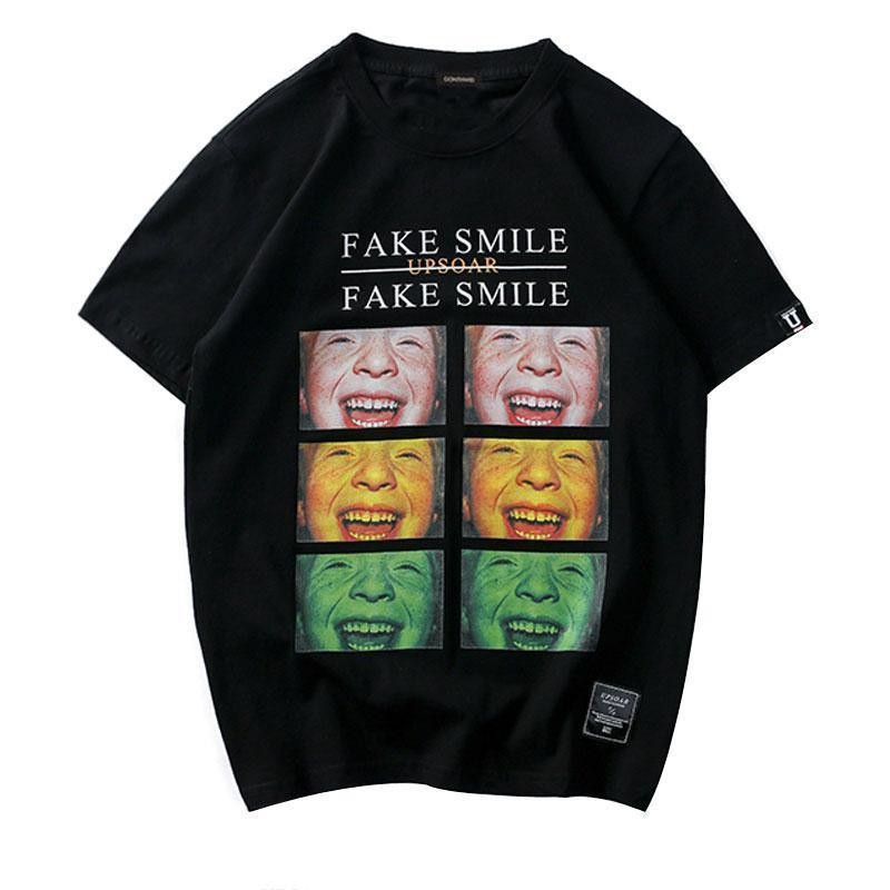 EXTAZ Tees FAKE SMILE - Tees