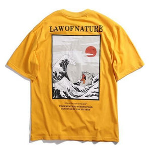 EXTAZ Tees Jaune / S LAW OF NATURE - Tees