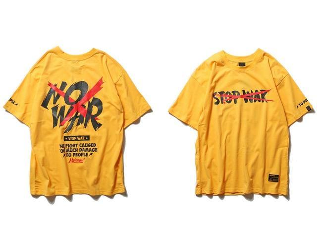EXTAZ Tees Jaune / S NO WAR - Tees