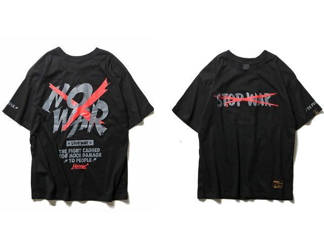 EXTAZ Tees Noir / S NO WAR - Tees