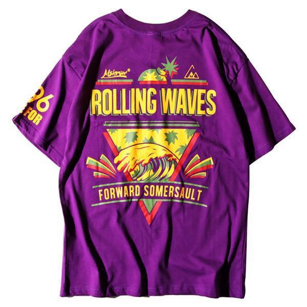 EXTAZ Tees ROLLING WAVES - Tees