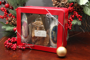 Red Holiday Gift Tin - Stickling's Bakery
