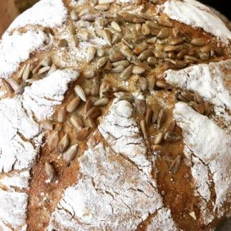 Sunflower Rye Sourdough Bread
