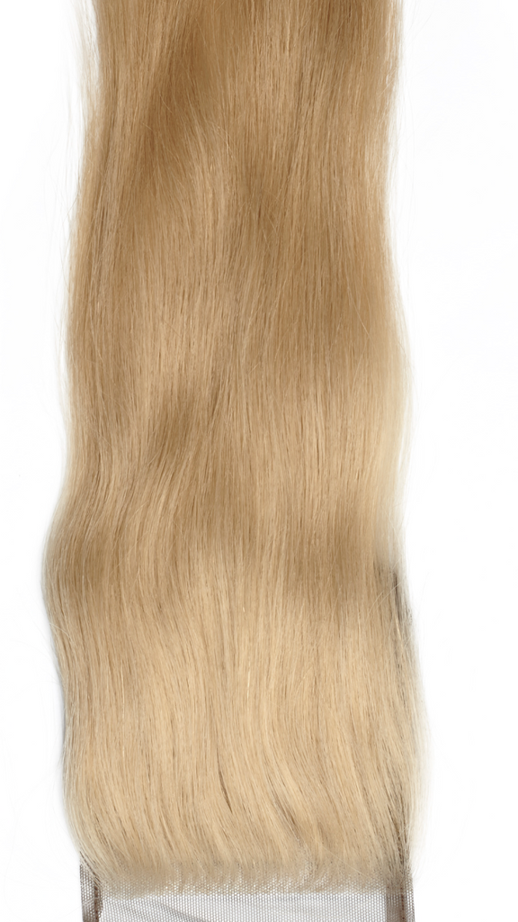 Sassy Blonde Straight Lace Closure Luxury Virgin Hair Extensions