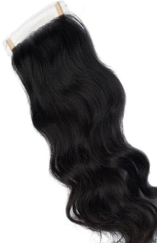 Indian Natural Curly/Wavy Lace Closure - Sassy Gal - Raw Unprocessed Hair Extensions