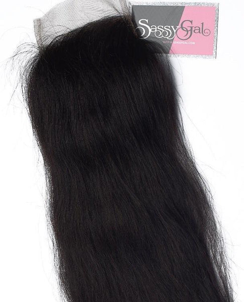 Indian Straight Closure - Sassy Gal - Raw Unprocessed Hair Extensions