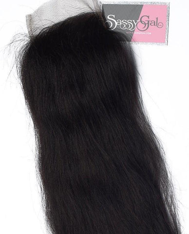 Indian Straight Lace Closure - Sassy Gal - Raw Unprocessed Hair Extensions