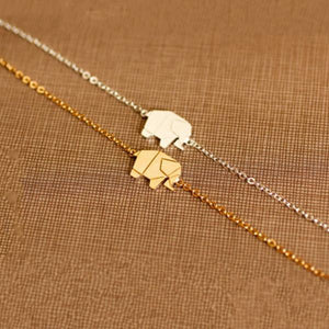 The Origami Elephant Necklace