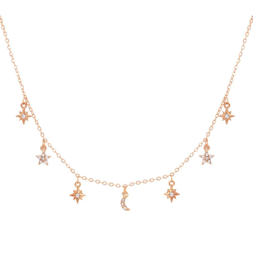 The Moon & Stars Choker Necklace
