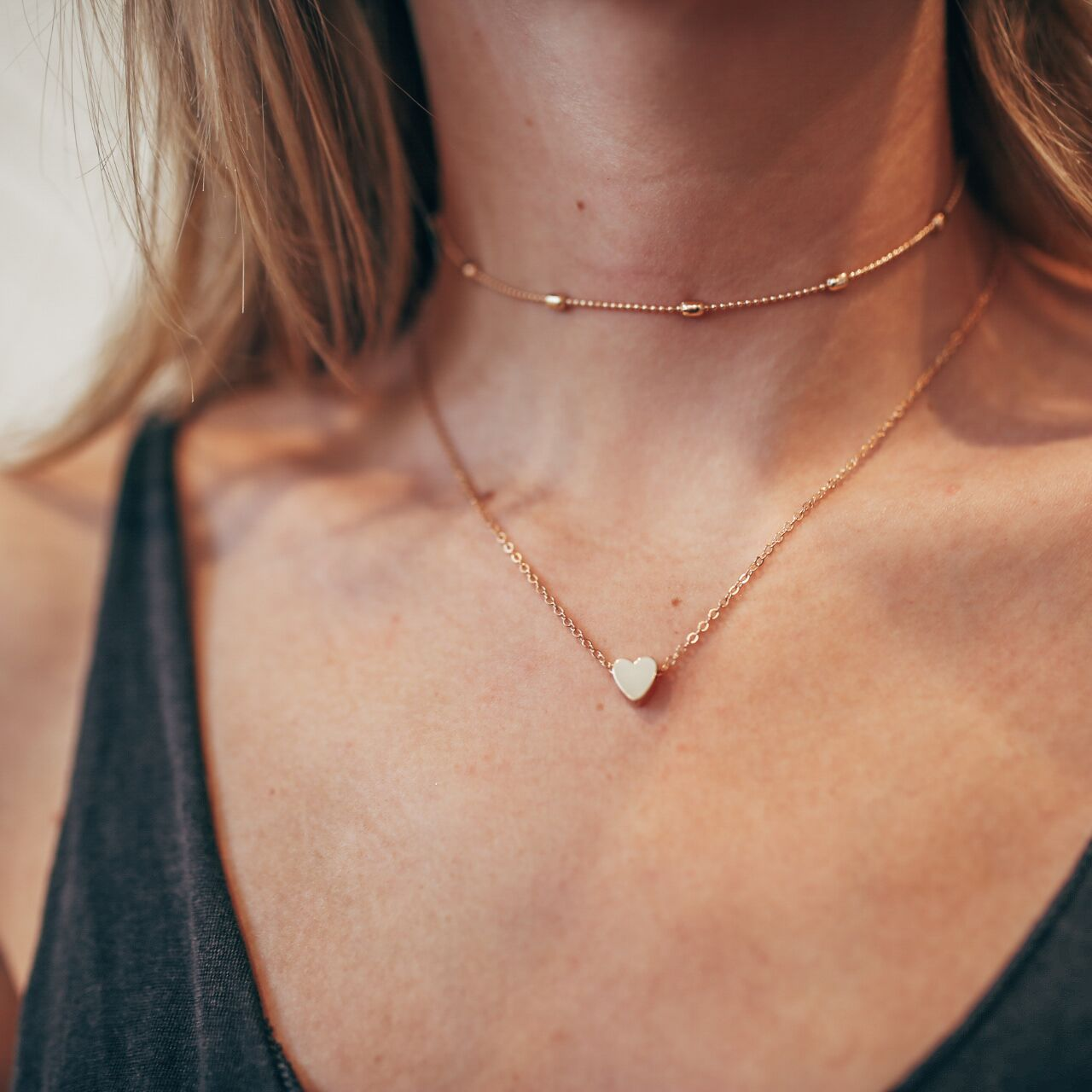The Double Horn Heart Necklace