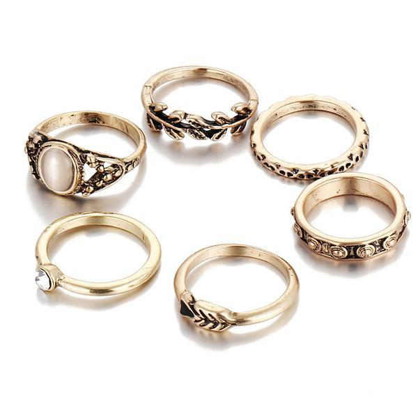 The Vintage Bohemian Ring Set