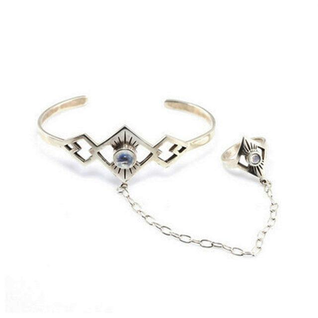 The Hollow Bangle Cuff and Ring Set