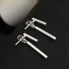 T Bar Stud Earrings