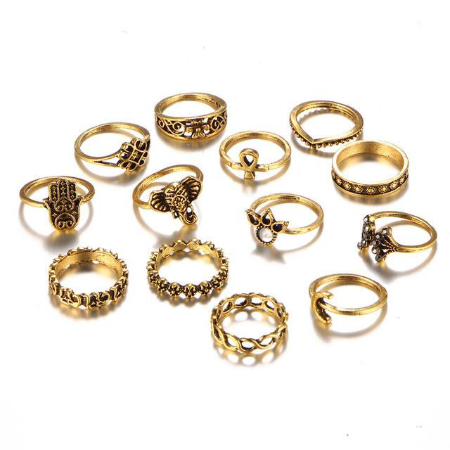 The Thirteen Piece Spiritual Ring Set