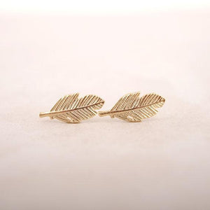 The Simple Feather Stud Earrings