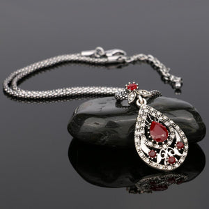 The Red Circle Crystal Pendant