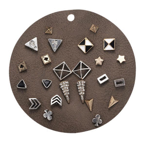 The Vintage Shapes Small Stud Earrings Set