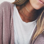 The Gold Coin Triple Layered Choker