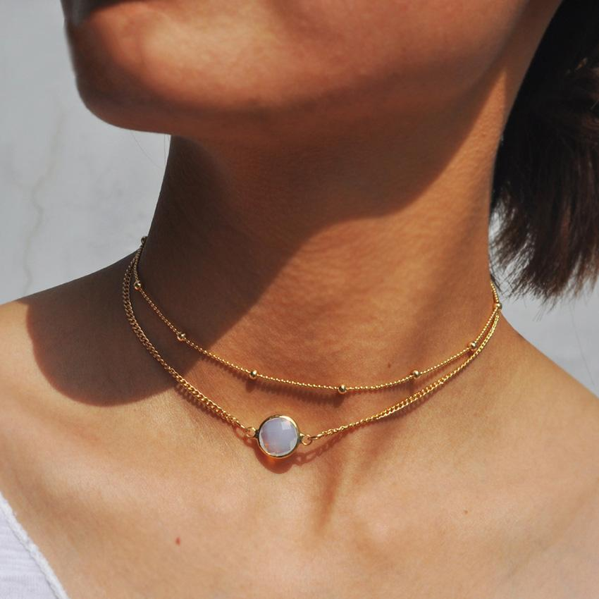 The Circular Gem Stone Choker