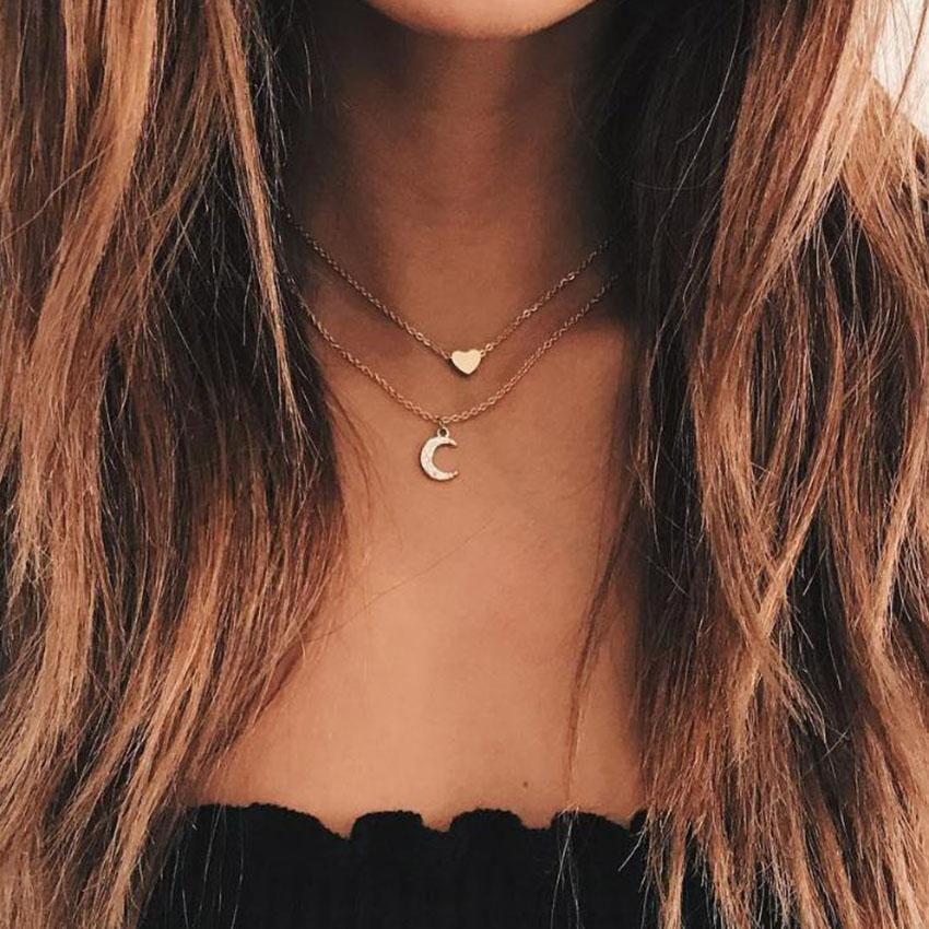 The Heart And Moon Necklace