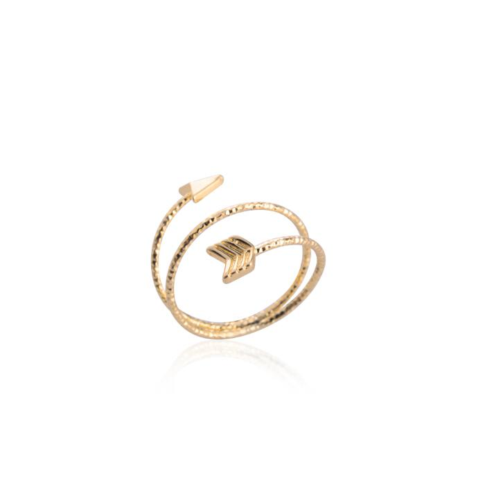 The Twisted Arrow Glitter Ring